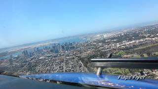 Flight Deck View|Landing In San Diego|HD