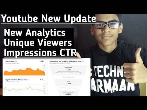 Youtube New Update( New Analytics, Unique Viewers, Impressions CTR NEW CREATOR STUDIO 🔥🔥🔥