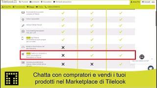 Chatta con compratori e vendi i tuoi prodotti nel Marketplace di Tilelook