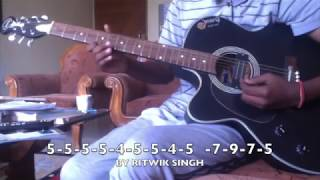 EASY TITANIC Theme Song SINGLE STRING on GUITAR For Beginners