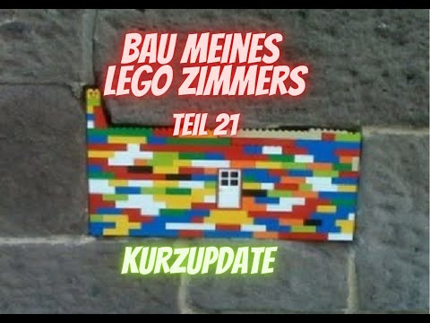 Bau meines LEGO Zimmers Teil 21 - Weiter mit den Wänden