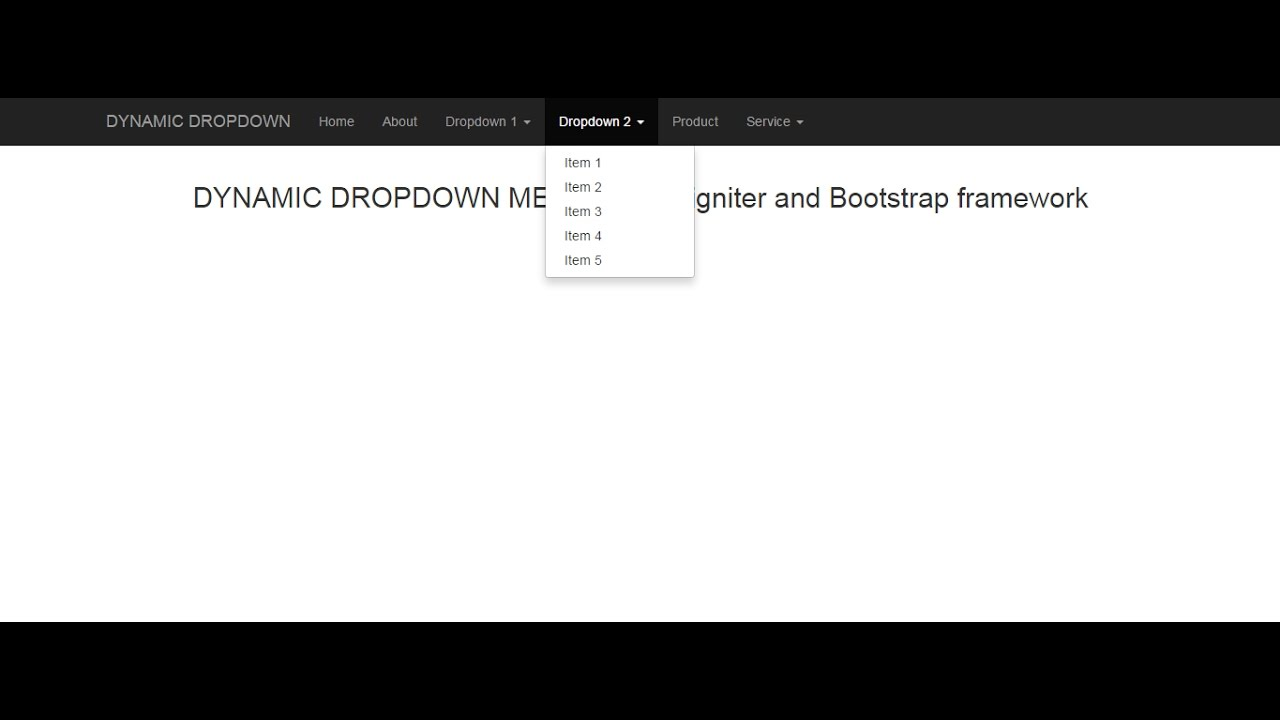 Codeigniter -- How to create dynamic dropdown menu with bootstrap