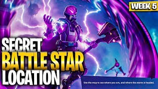 WEEK 5 SECRET BATTLE STAR LOCATION GUIDE! - Fortnite Find the Secret Battle Star in Loading Screen 5