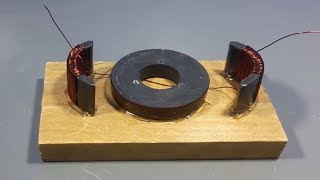 free energy light bulb electricity generator using magnet , science project 2018