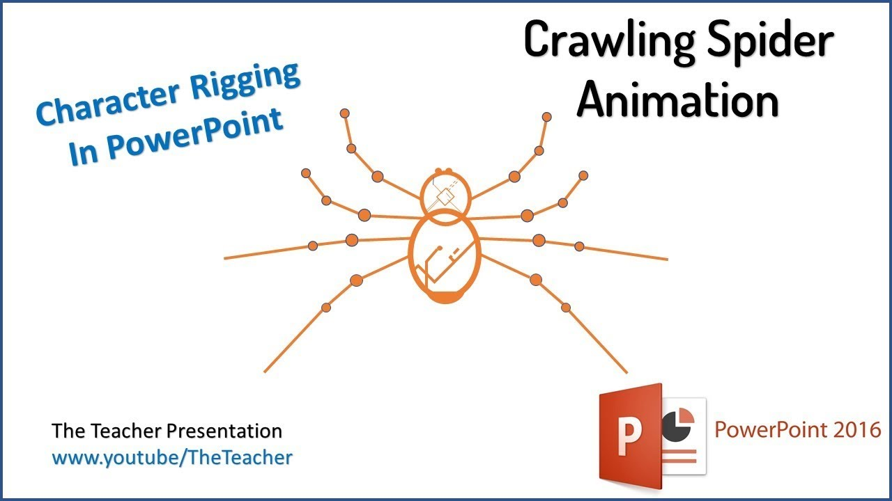 The Crawling Spider Character Rigging In PowerPoint 2016 Maxresdefault  Watch?vu003dro Y9WTKSKE Easy Spider Diagram Microsoft Powerpoint