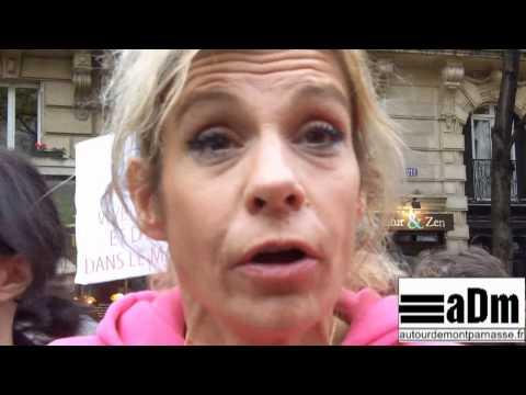Frigide Barjot - manifestation anti-mariage homosexuel