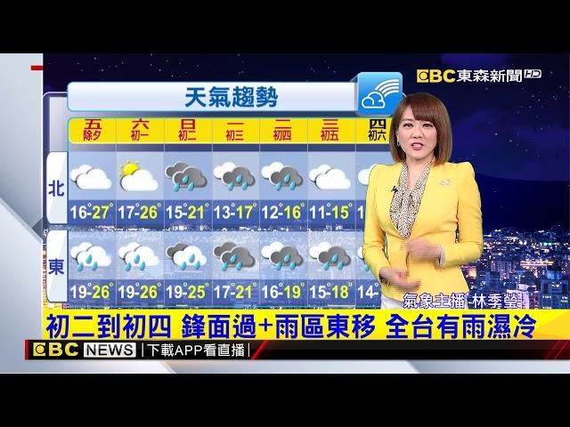 氣象時間 1090123 晚間氣象 東森新聞