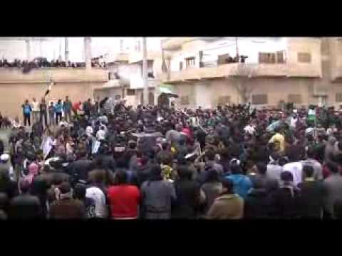 جمعة دعم  الجيش الحر درعا البلد ج5   13 1 2012