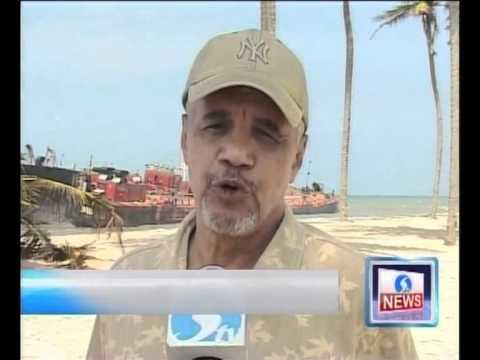 Ship wreck at Lekki beach Lagos