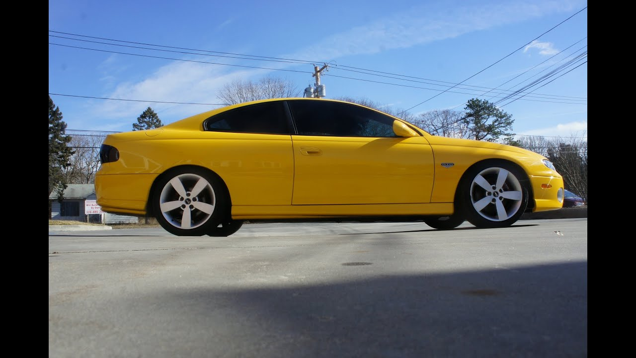 2004 pontiac gto for sale yellow 6 speed 5 7l ls1 motor leather koni shocks youtube. Black Bedroom Furniture Sets. Home Design Ideas