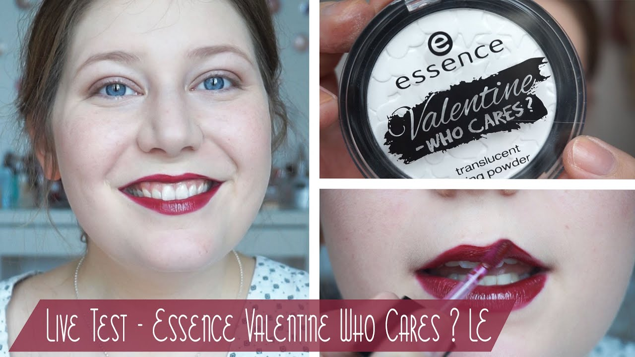 Live Test // Essence Valentine - Who Cares? Limited Edition - YouTube