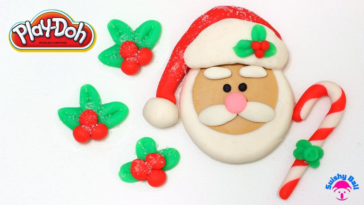 Play Doh Santa Clause Candy Cane And Mistletoe YouTube