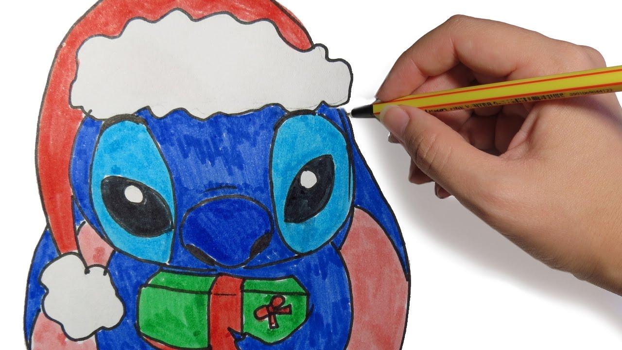 Dibujos de navidad stich navide o paso a paso dibujos - Dibujos de navidad faciles ...