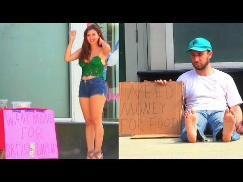 Hot Girl VS Homeless Man! (Social Experiment)