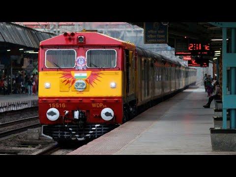 KALYAN WDP-3A 15516 With 22120 KARMALI - MUMBAI Tejas Express Skipping Bhandup at MPS