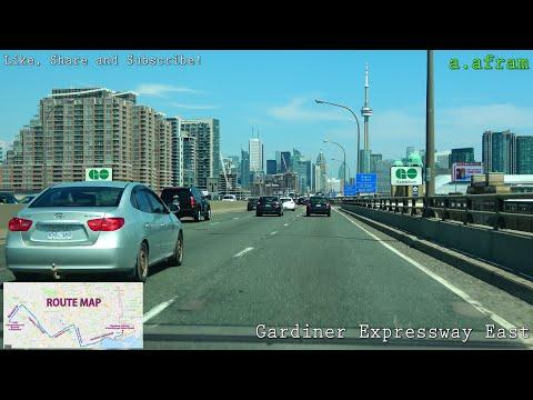 [4K] 2018 Driving to Chinatown Toronto from Brampton Ontario Canada