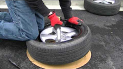 how to mount a tire by hand