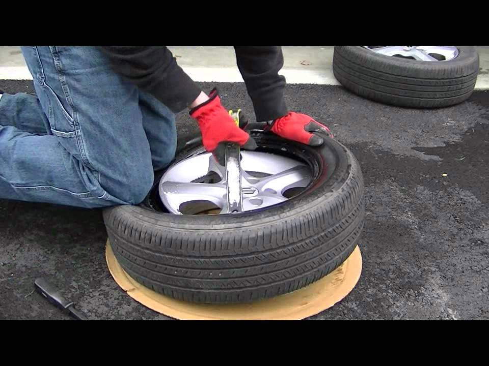 Tire Changing Hand Tools >> How To Mount A Tire By Hand Youtube