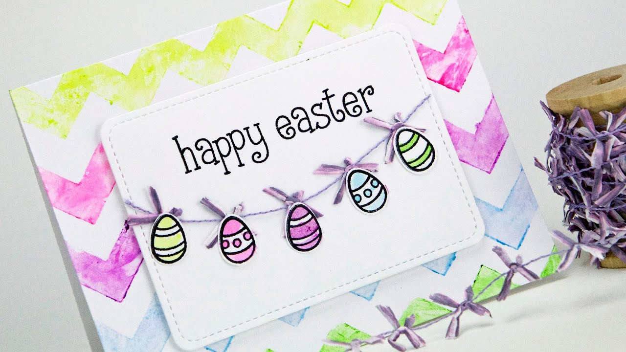 How to make a watercolor Easter card YouTube – Easy Easter Cards to Make