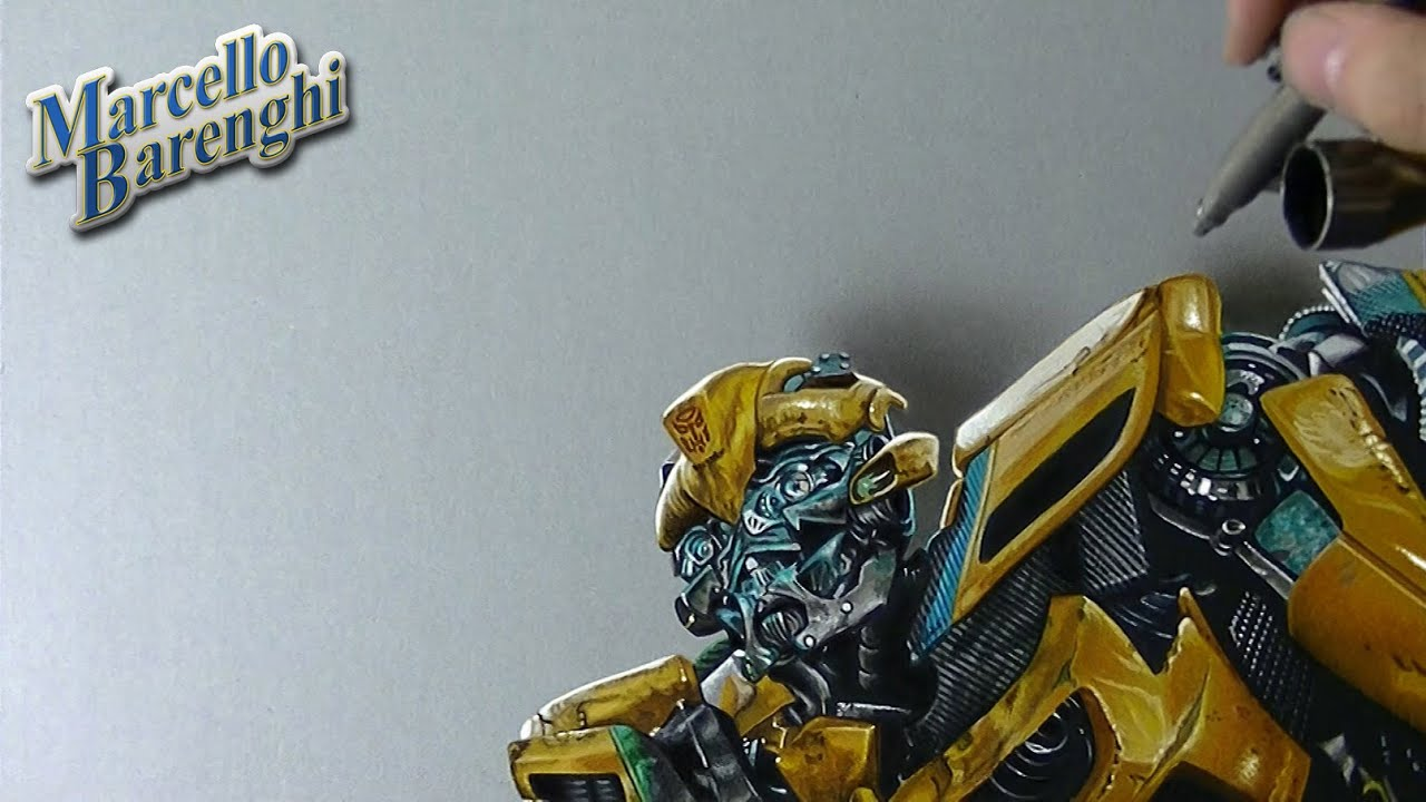 Transformers Bumblebee Drawing Time Lapse By Marcello Barenghi