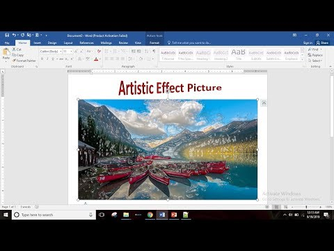 Apply Artistic Effect,Using Remove Background,Compress Picture etc in MS Word 2016 in Hindi Part-71