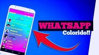Como mudar a cor do whatsapp sem desinstalar 2019