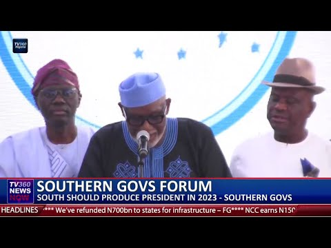 South should produce Nigeria's next President-Southern Govs
