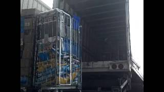 Unloading a Dollar General trailer