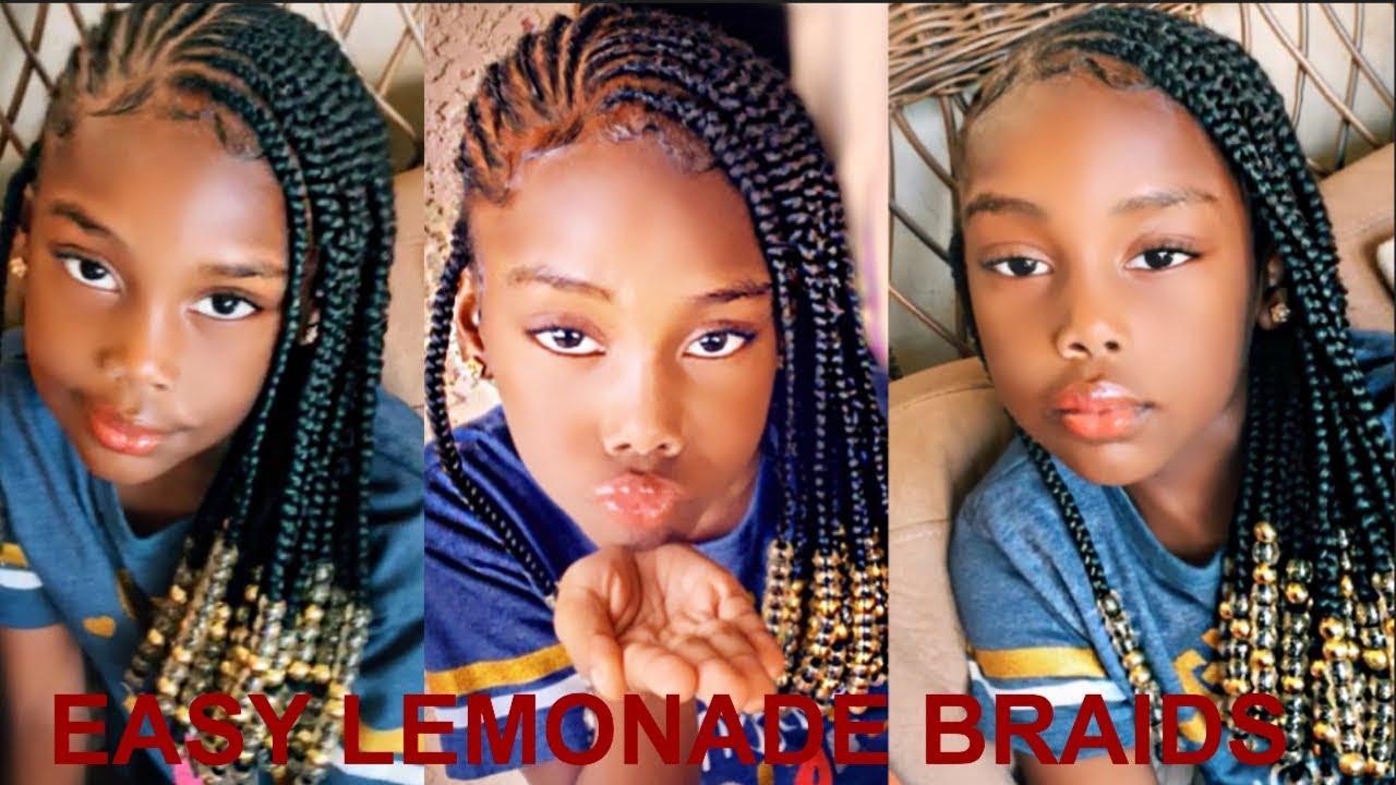 Little BLACK GIRL HAIRSTYLE / Lemonade braids for kids , YouTube