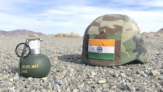 Grenade vs Indian military helmet