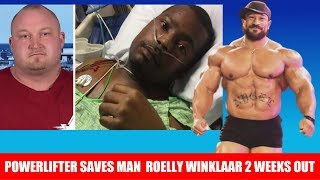 Powerlifter Lifts Car Off of Man in Accident, Roelly Winklaar Guest Posing Controversy + MORE