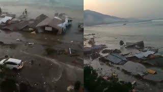 Beginilah Kengerian Tsunami Memporak-porandakan Bangunan saat Gempa 7,7 SR Guncang Donggala Sulteng