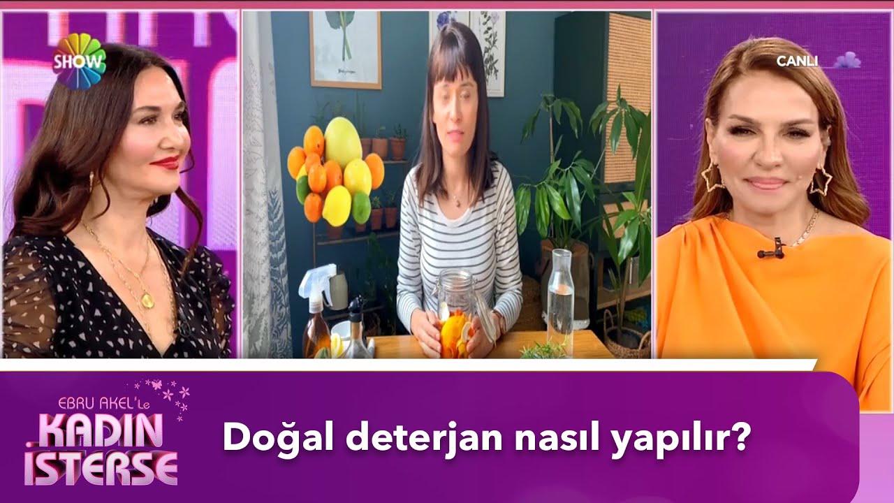 Evde doğal temizlik ürünü yapımı | Ebru Akel'le Kadın İsterse - YouTube