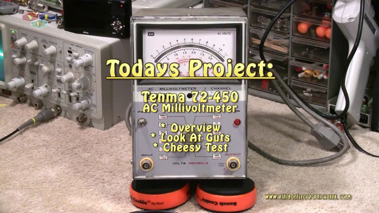 Tenma 72 450 Ac Millivoltmeter Overview Guts Test Youtube Rf