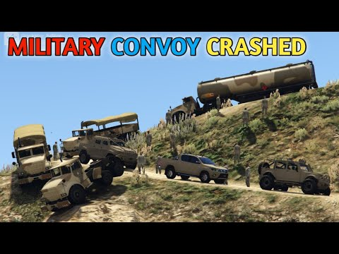 GTA 5 | Military Convoy | Military Convoy Crashed on Mount Chiliad | Game Loverz |