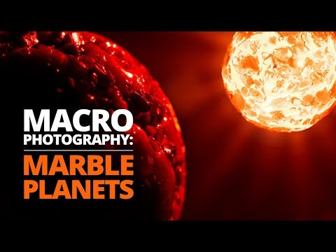 Creating amazing space scenes using MARBLES & macro photography