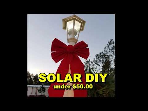 45 Watt Solar Panel Powers Lights All Night. Best Solar Project Under 50 Dollars