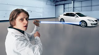 Что, если мощный лазер направить на колесо машины?