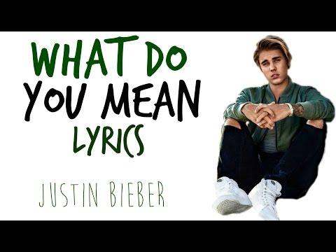 What do you mean - Justin Bieber   LYRICS