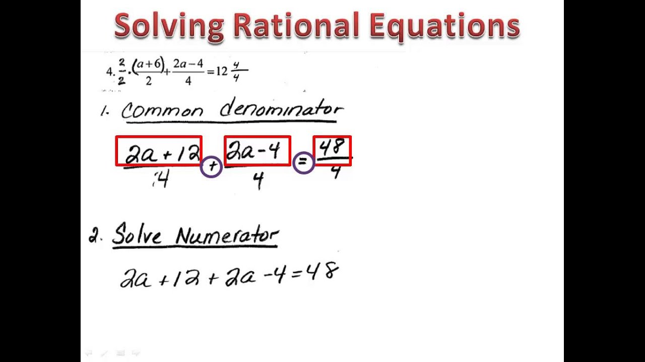 how to get rid of the numerator in algebra