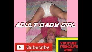 adult baby girl wearing diaper #adult baby #abdl #teen baby