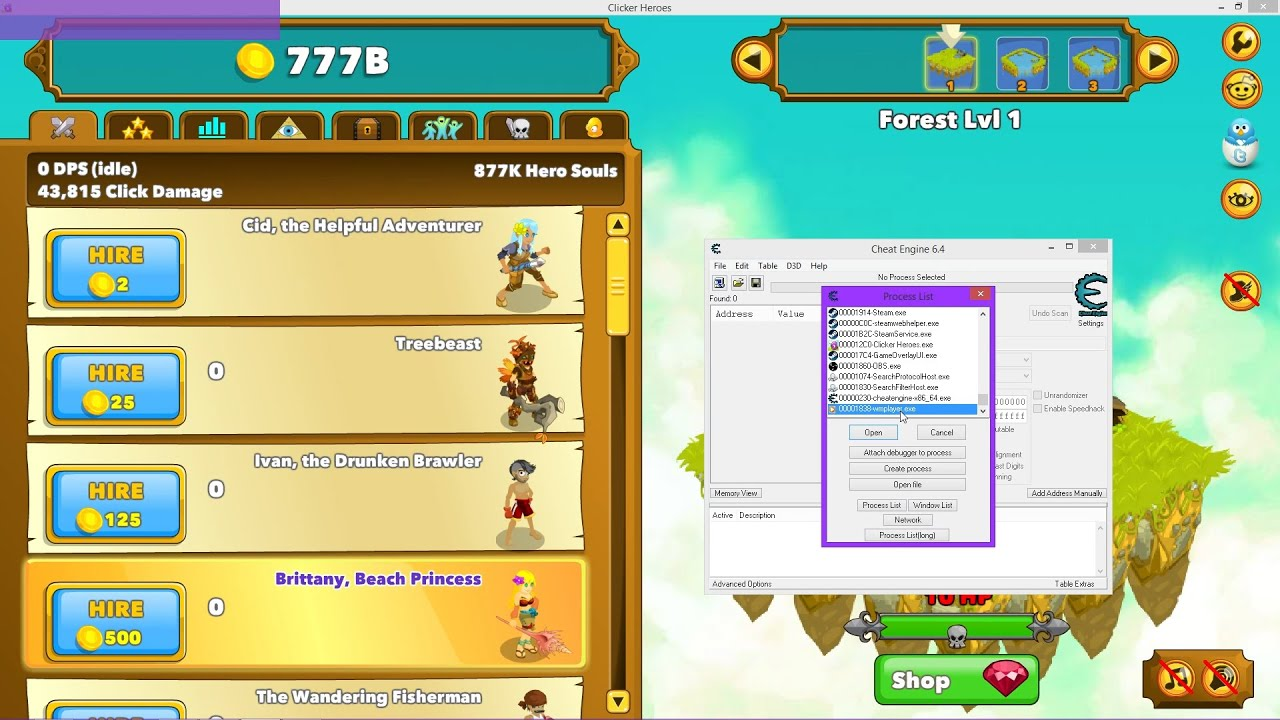 Clicker Heroes Cheat/Hack - Rubine, Hero Souls, Gold, Gilds ...