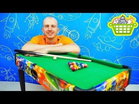 Игры для детей - Настольный бильярд для ребёнка. Игрушки для мальчиков. Board Games Billiards Set