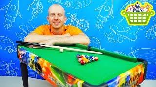 Игры для детей - Настольный бильярд для ребёнка. Игрушки для мальчиков. Board Games Billiards Set(Бильярд для детей - это замечательная детская настольная игра, обзор которой представлен на канале Корзина..., 2016-07-01T14:22:55.000Z)