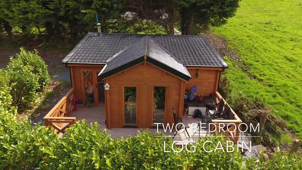 Custom 2 bedroom log cabin youtube for Two bedroom log homes