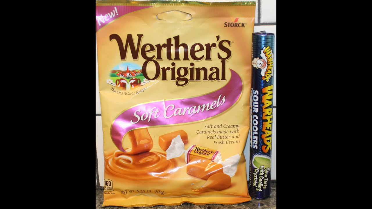 Werther's Original Soft Caramels & WarHeads Sour Coolers ...