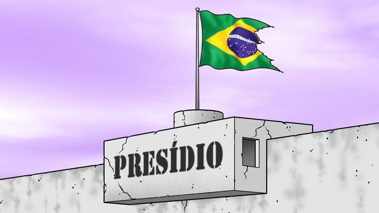 Resultado de imagem para presídio brasileiro charge