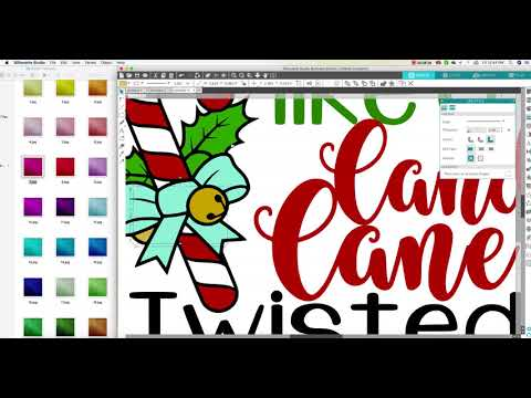 How to add Glitter Texture to Text and Mockup using Silhouette Software