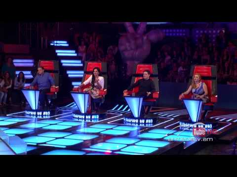 David Rodriguez, La Camisa Negra by Juanes -- The Voice of Armenia – The Blind Auditions – Season 3