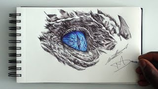 SKETCH SUNDAY #36 How To Draw A Blue Eyed Ice Dragon - Game Of Thrones - DeMoose Art